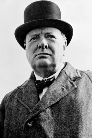 Hated, anti-worker capitalist politician Winston Churchill