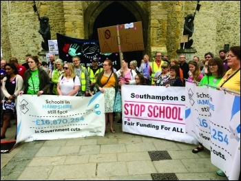 Billions of pounds have been cut from schools funding by the Tory government, photo Nick Chaffey