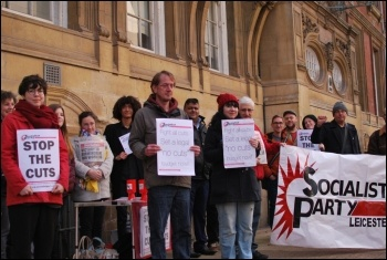 Fighting council cuts in Leicester, photo Leicester Socialist Party, photo Leicester Socialist Party