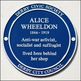 Alice Wheeldon's blue plaque in Derby, photo Russ Hamer/CC
