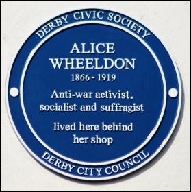 Alice Wheeldon's blue plaque in Derby, photo Russ Hamer/CC