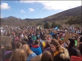 March 15 Climate protest outside the Scottish parliament