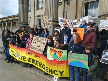 Climate change protest 15.3.19, Huddersfield