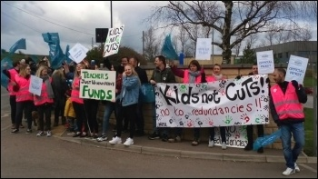 Bradfield school in Sheffield striking