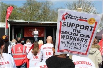 Demonstration to save Honda plant, Swindon, 30.3.19, photo S. German