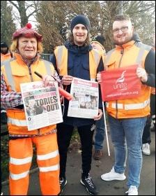 Other bin workers on strike in Birmingham
