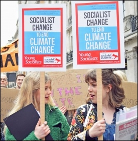 Climate change protest in London on 12.4.19, photo Mary Finch