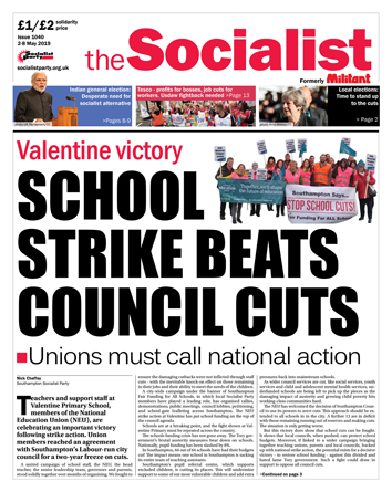 The Socialist issue 1040: School strike beats council cuts