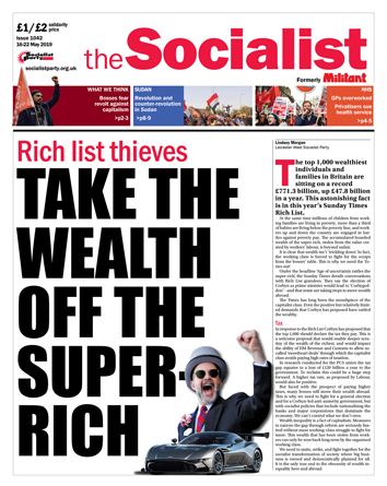 The Socialist issue 1042: Take the wealth off the super-rich