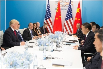 US President Donald J. Trump and China's President Xi Jinping