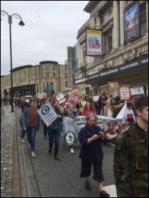 Climate change protesters in Liverpool, 24 May 2019, photo by Neill Dunne