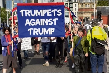 Marching against Trump in Bristol, 3.6.19, photo by Tom Baldwin