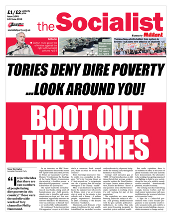 The Socialist issue 1045: Boot out the Tories