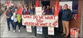 Bus workers on strike, Preston & Chorley Stagecoach