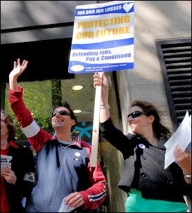 PCS on strike 1 May 2007, photo Paul Mattsson