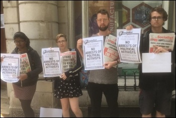 Socialist Party members protest outside the Nigerian embassy in London, 6.6.19, photo by Ian Pattison