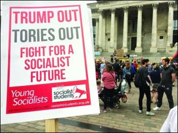 Protesting against Donald Trump's D-Day visit to Portsmouth 5 June 2019, photo Nick Chaffey