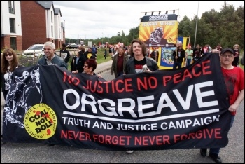 Orgreave marchers, 15.6.19, photo by A Tice