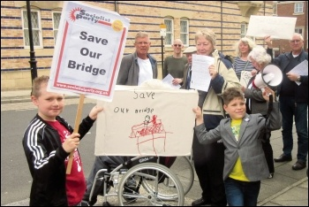 Save our bridge, photo by Elaine Brunskill