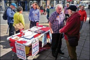 Campaigning on the NHS in Newton Abbot, photo by Richard Worth
