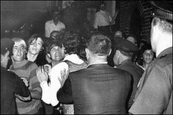 Police repression at the Stonewall Inn, June 1969
