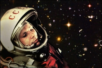 Cosmonaut Yuri Gagarin, first person in space