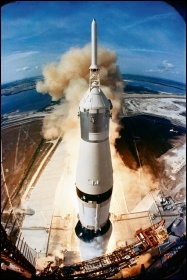 Apollo 11 taking off, photo by Nasa