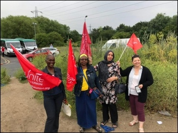 Unite the Union members employed as drivers and passenger assistants by Hackney council have been taking action. July 2019