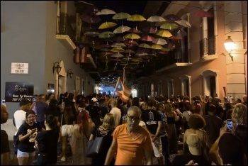 Puerto Ricans take to the streets to oust governor Ricardo Roselló, photo by Old School WWC Fan/CC
