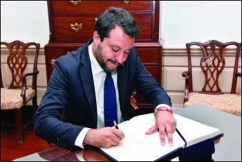 Far-right demagogue Matteo Salvini