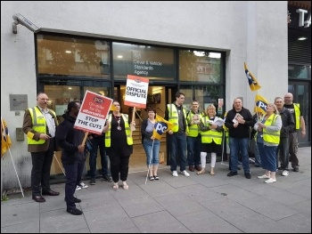 DVSA strike Nottingham August 2019, photo Gary Freeman