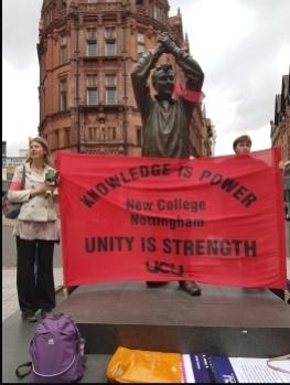 Nottingham college strike, Sept 2019, photo Gary Freeman