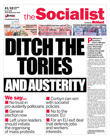 The Socialist issue 1056: Ditch the Tories - and austerity