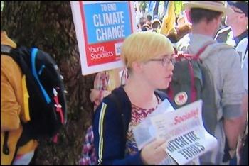 Socialist seller on BBC Newsnight