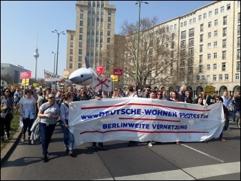 40,000 march in Berlin on 6 April against high rents, photo Sol- CWI Germany