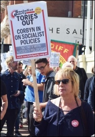 Tories Out! The NSSN lobbies the TUC, Sept 2019, photo Mary Finch
