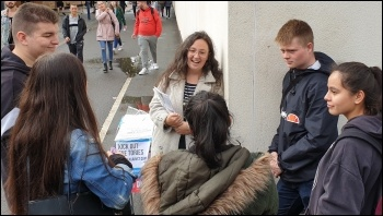 Talking to freshers in Leicester