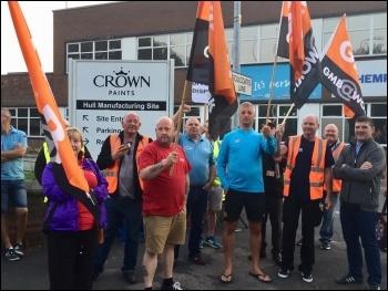 Crown Paints strike August 2019
