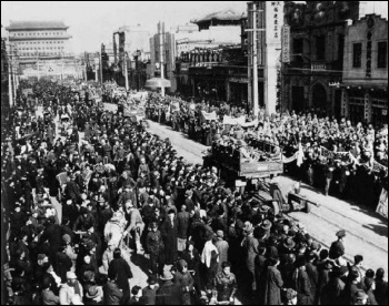 The People's Liberation Army enters Peking (Beijing) in 1949
