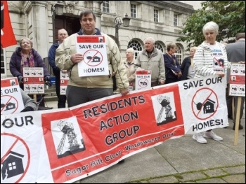 LS26 Save Our Homes campaigners lobbying the Leeds Council planning committee, photo Iain Dalton