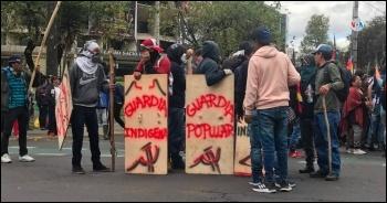 Ecuador protests 2019, photo Voz de America/CC