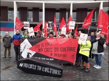 Bradford council Unite members striking against cuts, photo Iain Dalton