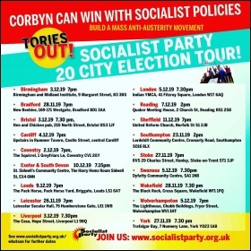 Socialist Party general election meetings Nov-Dec 2019