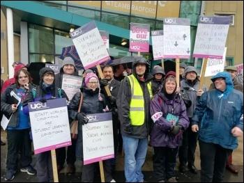 Bradford, UCU strike 25.11.19