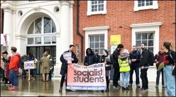 London Goldsmiths, UCU strike 25.11.19, photo Paula Mitchell