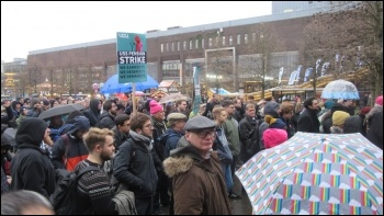 UCU strike 25.11.19, Newcastle, photo Elaine Brunskill