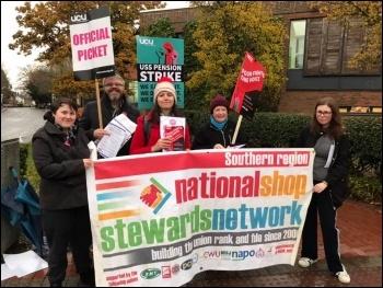 Southampton, UCU strike 25.11.19