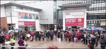 Sheffield Hallam, UCU strike Nov 2019, photo by J. Dale