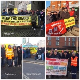 SWR picket lines 3 December