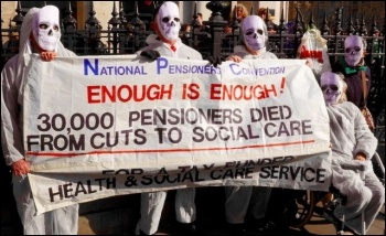 Cuts in social care are killing, photo Dave Beale